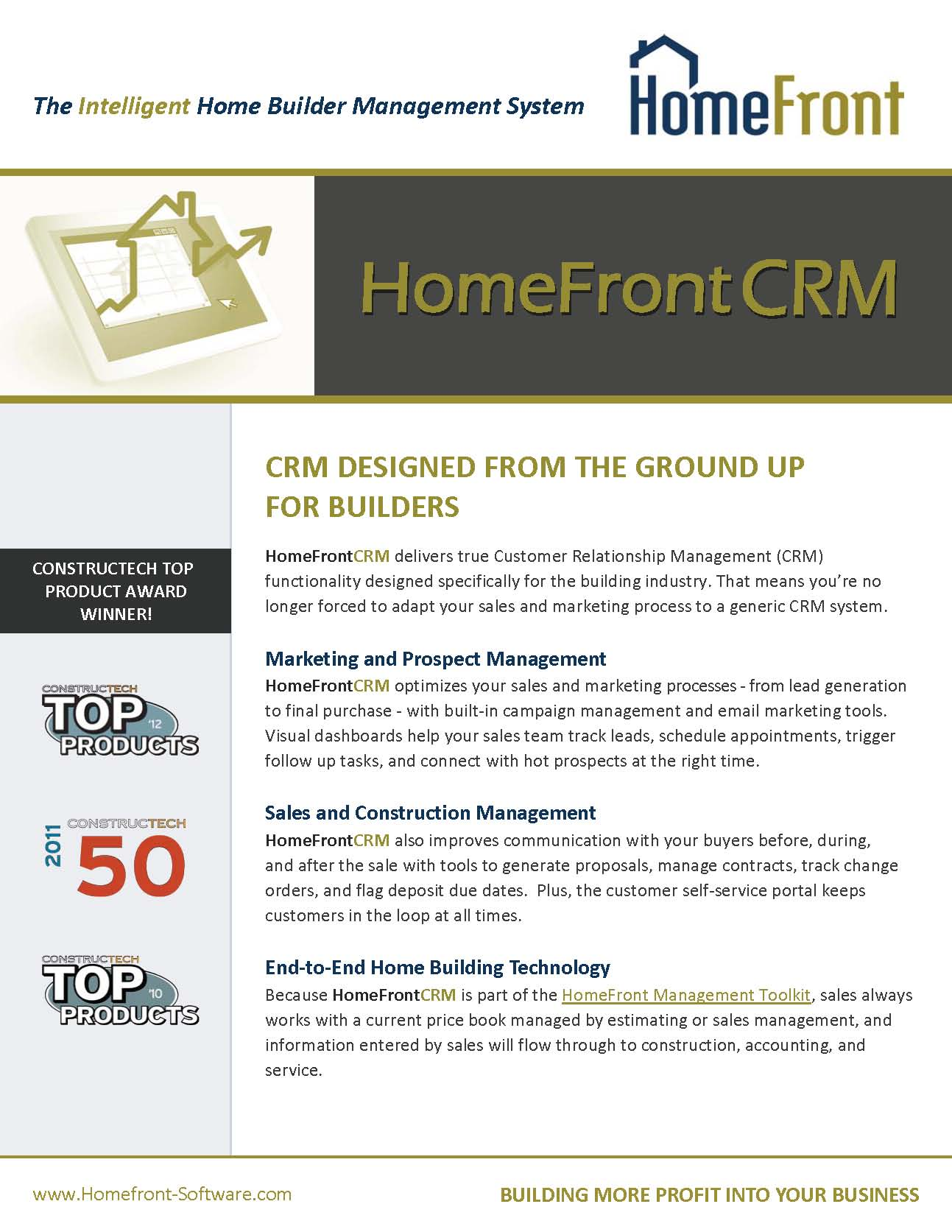 HomeFront - BuilderCRM Brochure