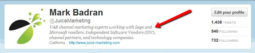 Juice Marketing Twitter Description