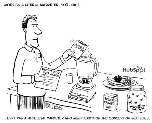Hubspot-cartoon-seo-juice
