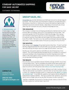 V-Technologies - Group Sales Customer Buzz