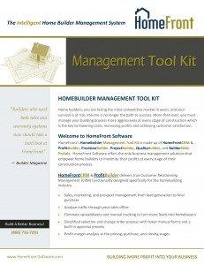 HomeFront - Management Tool Kit Brochure