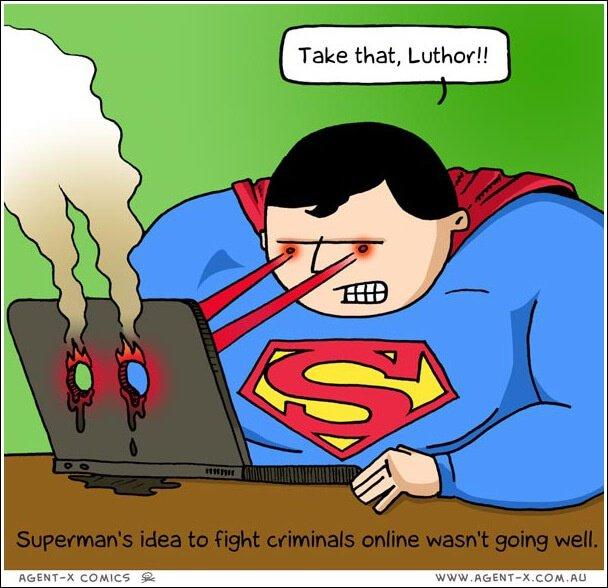 Social Media Cartoons – Online Crime Fighting