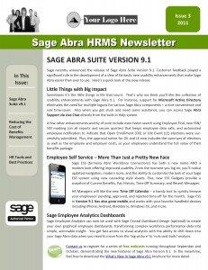 Sage Abra HRMS Newsletter - Q3, 2011