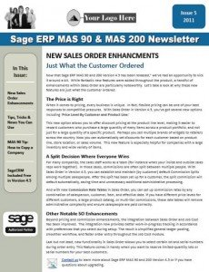 Sage MAS 90 Newsletter - September/October