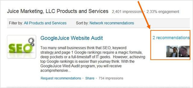 LinkedIn Company Pages Products services