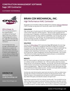 Brian Cox Mechanical (Sage 100 Contractor)