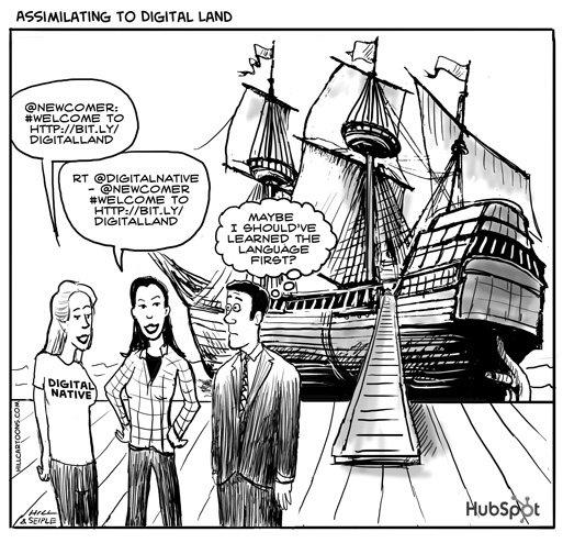 Social-media-cartoon-digital-land