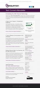 Equation Technologies - Nurture Newsletter
