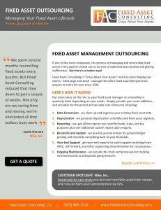 Fixed Asset Consulting - Fixed Asset Managemet Outsourcing Brochure