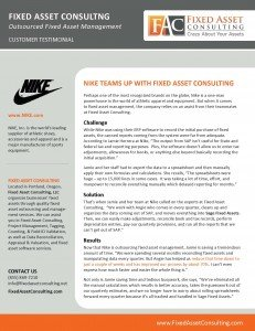 Fixed Asset Consulting - Nike Customer Buzz