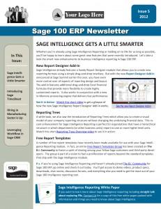 Sage 100 ERP Issue 5 - 2012